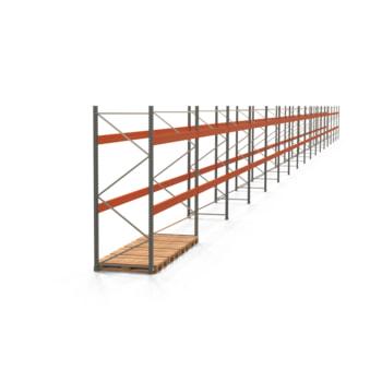 Palettenregal ARTUS - Regalreihe mit 17 Feldern - Fachlast 4.000 kg - 3.000 x 62.730 x 1.100 mm (HxBxT) - Schwerlastregal
