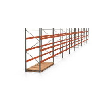 Palettenregal ARTUS - Regalreihe, 9 Felder - Fachlast 3.200 kg - Feldlast 9.600 kg - 3.000 x 33.250 x 1.100 mm (HxBxT) - Schwerlastregal