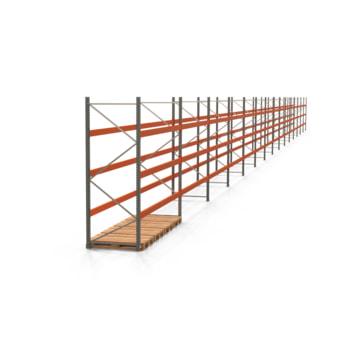 Palettenregal ARTUS - Regalreihe, 15 Felder - Fachlast 3.200 kg - Feldlast 9.600 kg - 3.000 x 55.360 x 1.100 mm (HxBxT) - Schwerlastregal