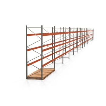 Palettenregal ARTUS - Regalreihe, 16 Felder - Fachlast 3.200 kg - Feldlast 9.600 kg - 3.500 x 59.045 x 1.100 mm (HxBxT) - Schwerlastregal