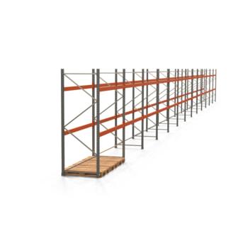 Palettenregal ARTUS - Regalreihe mit 13 Feldern - Fachlast 2.000 kg - 3.000 x 36.290 x 1.100 mm (HxBxT) - Schwerlastregal