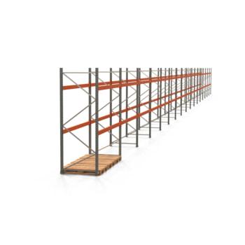 Palettenregal ARTUS - Regalreihe mit 17 Feldern - Fachlast 2.000 kg - 3.000 x 47.430 x 1.100 mm (HxBxT) - Schwerlastregal