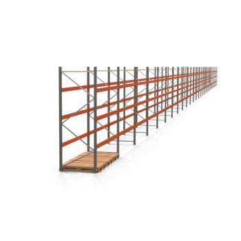 Palettenregal ARTUS - Regalreihe, 26 Felder - Fachlast 2.000 kg - Feldlast 6.000 kg - 3.000 x 72.495 x 1.100 mm (HxBxT) - Schwerlastregal