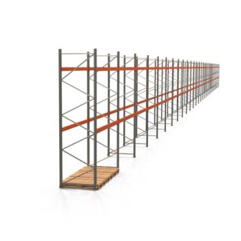 Palettenregal ARTUS - Regalreihe mit 29 Feldern - Fachlast 2.000 kg - 4.000 x 80.850 x 1.100 mm (HxBxT) - Schwerlastregal