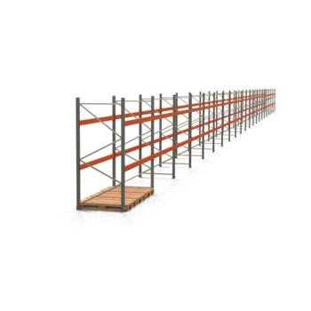 Palettenregal ARTUS - Regalreihe mit 22 Feldern - Fachlast 2.000 kg - 2.500 x 61.355 x 1.100 mm (HxBxT) - Schwerlastregal