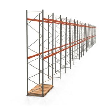 Palettenregal ARTUS - Regalreihe, 23 Felder - Fachlast 3.000 kg - Feldlast 6.000 kg - 5.500 x 64.140 x 1.100 mm (HxBxT) - Schwerlastregal