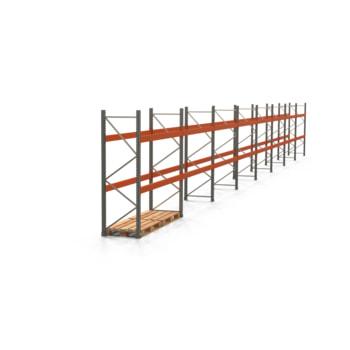 Palettenregal ARTUS - Regalreihe mit 8 Feldern - Fachlast 3.000 kg - 2.500 x 22.365 x 800 mm (HxBxT) - Schwerlastregal