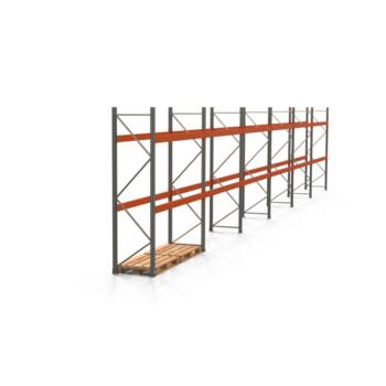 Palettenregal ARTUS - Regalreihe mit 6 Feldern - Fachlast 3.000 kg - 3.000 x 16.795 x 800 mm (HxBxT) - Schwerlastregal