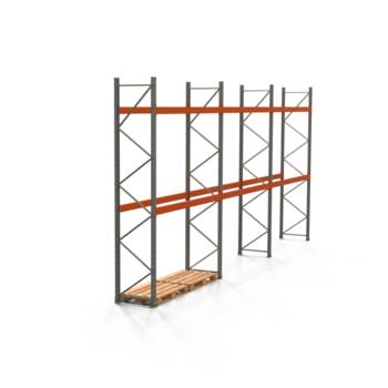Palettenregal ARTUS - Regalreihe mit 3 Feldern - Fachlast 3.000 kg - Feldlast 6.000 kg - 4.000 x 8.440 x 800 mm (HxBxT) - Schwerlastregal