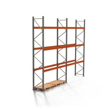 Palettenregal ARTUS - Regalreihe mit 2 Feldern - Fachlast 3.000 kg - Feldlast 9.000 kg - 4.500 x 5.655 x 800 mm (HxBxT) - Schwerlastregal