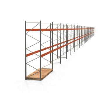 Palettenregal ARTUS - Regalreihe mit 27 Feldern - Fachlast 4.000 kg - 4.000 x 99.580 x 1.100 mm (HxBxT) - Schwerlastregal
