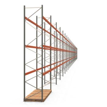 Palettenregal ARTUS - Regalreihe, 30 Felder - Fachlast 3.100 kg - Feldlast 9.300 kg - 5.500 x 110.635 x 1.100 mm (HxBxT) - Schwerlastregal