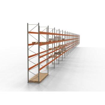 Palettenregal ARTUS - Regalreihe, 27 Felder - Fachlast 2.540 kg - Feldlast 10.160 kg - 5.500 x 99.580 x 1.100 mm (HxBxT) - Schwerlastregal