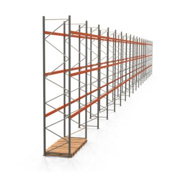 Palettenregal ARTUS - Regalreihe, 18 Felder - Fachlast 2.000 kg - Feldlast 6.000 kg - 5.500 x 50.215 x 1.100 mm (HxBxT) - Schwerlastregal