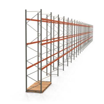 Palettenregal ARTUS - Regalreihe, 24 Felder - Fachlast 2.000 kg - Feldlast 6.000 kg - 5.500 x 66.925 x 1.100 mm (HxBxT) - Schwerlastregal