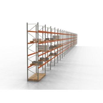 Palettenregal ARTUS - Regalreihe, 27 Felder - Fachlast 2.000 kg - Feldlast 8.000 kg - 5.500 x 75.280 x 1.100 mm (HxBxT) - Schwerlastregal
