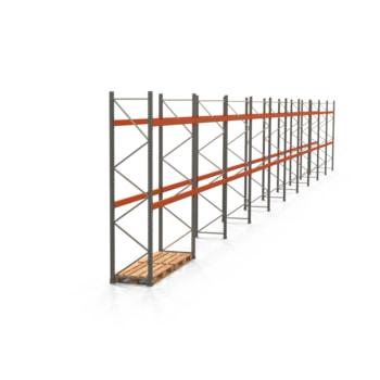 Palettenregal ARTUS - Regalreihe mit 10 Feldern - Fachlast 2.000 kg - 3.500 x 27.935 x 800 mm (HxBxT) - Schwerlastregal