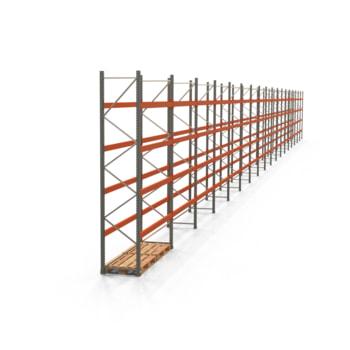 Palettenregal ARTUS - Regalreihe mit 18 Feldern - Fachlast 2.000 kg - Feldlast 8.000 kg - 4.000 x 50.215 x 800 mm (HxBxT) - Schwerlastregal