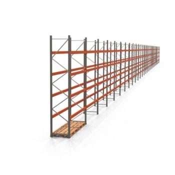 Palettenregal ARTUS - Regalreihe mit 30 Feldern - Fachlast 2.000 kg - Feldlast 8.000 kg - 4.000 x 83.635 x 800 mm (HxBxT) - Schwerlastregal