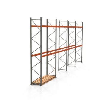 Palettenregal ARTUS - Regalreihe mit 4 Feldern - Fachlast 2.000 kg - Feldlast 4.000 kg - 4.500 x 11.225 x 800 mm (HxBxT) - Schwerlastregal