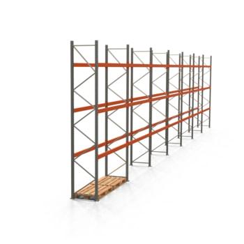Palettenregal ARTUS - Regalreihe mit 7 Feldern - Fachlast 2.000 kg - Feldlast 6.000 kg - 4.500 x 19.580 x 800 mm (HxBxT) - Schwerlastregal