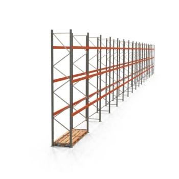 Palettenregal ARTUS - Regalreihe mit 17 Feldern - Fachlast 2.000 kg - Feldlast 6.000 kg - 4.500 x 47.430 x 800 mm (HxBxT) - Schwerlastregal