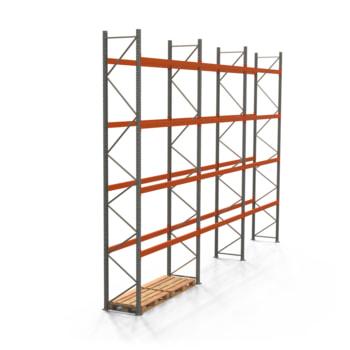 Palettenregal ARTUS - Regalreihe mit 3 Feldern - Fachlast 2.000 kg - Feldlast 8.000 kg - 5.500 x 8.440 x 800 mm (HxBxT) - Schwerlastregal